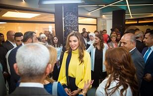 الملكة رانيا تُطلق منصة إدراك للتعلُّم المدرسي