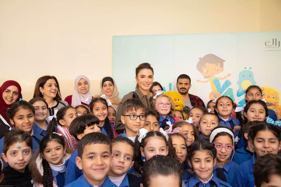 الملكة رانيا العبدالله تطلق مادة الرياضيات للصفوف من رياض الأطفال وحتى الخامس على منصة إدراك للتعلم المدرسي
